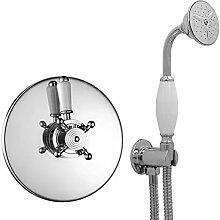 ENKI Duscharmatur Thermostat Handbrause Set Chrom