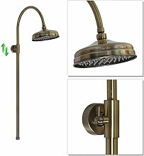 ENKI Duschstange Duschsäule Set Bronzefarben Rund