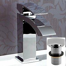 ENKI Eckige Waschtischarmatur Wasserfallfunktion