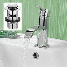 Enki gewölbten Ultra Moderne Waschbecken Mischbatterie Schlitz Ablaufgarnitur Badewanne SOHO