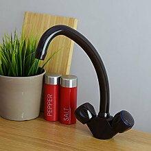 Enki Mischarmatur, für Küchenspüle, massives Messing Braun Traditionell Dual Flow Richmond