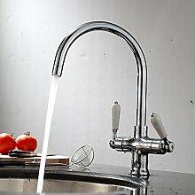 ENKI Unterputz-Duscharmatur mit Thermostat 2 Regler 2 Anschlüsse bronzefarbene