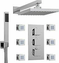 ENKI Unterputz-Duscharmatur Thermostat Eckig 3