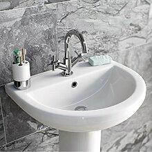 Enki Waschbecken Mischarmaturen Kreuz Griff Moderne Badezimmer Garderobe Oxford