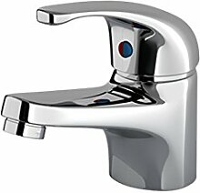 Enki Waschbecken Mischbatterie Badewanne Badezimmer Chrom Garderobe Einzelhahn Dusche Ruby