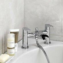 Enki Wasserfall Mischbatterie mit Handbrause Designer Badezimmer Niagara