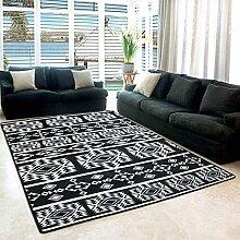 Enkoo Area Rug Weiß Schwarz Modernes Muster von
