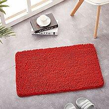 Enkoo Fußmatte mit Ausschnitt Rot Größe