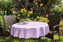 ENTDECKEN Sie Ihre Tischdecke Farbe & Größe wählbar 120 cm rund flieder lila London aus Deutscher Produktion
