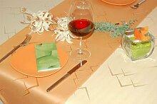 ENTDECKEN Sie Ihre Tischdecke Farbe & Größe wählbar Maße: 150x190 cm oval sand-beige Eleganz aus Deutscher Produktion
