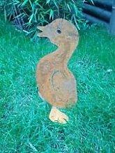 Ente, Garten Figuren, Natur Farben und Eisen Tier