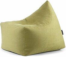 Entfärben Sitzsack Sitzsack aus Mikrofaser abnehmbar gefüllt in Perle von Polystyrol Weiche Anpassbar auf alle Sitz modernes Design lindgrün