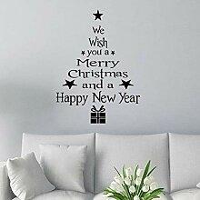 Entfernbarer Weihnachtsbaum Form Wand Aufkleber