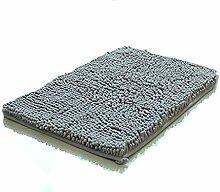 Entry Teppich, Blau Grau Dicken Flauschigen