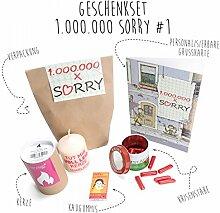 Entschuldigungsgeschenk, Geschenkidee zur Entschuldigung und Wiedergutmachung - Geschenkset 1.000.000 x Sorry! #1
