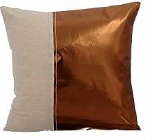 Entwerfer Kupfer sofakissenbezüge, Metallisches