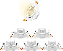 ENUOTEK LED Schwenkbare Einbaustrahler AC100-240V