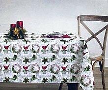 Envogue Holiday Collection Baumwoll-Tischdecke,