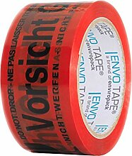 EnvoTape® Warnband VORSICHT GLAS - 50 mm x 66 m