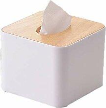 ENXING Aus Holz Kosmetiktücherbox Tissue Box