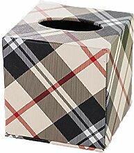 ENXING Kosmetiktücherboxen Cube Tissue Box PU