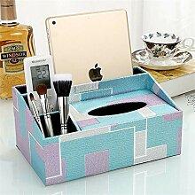 ENXING Leder Kosmetiktücherbox/Tissue-Box Carving
