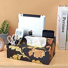 ENXING Leder Kosmetiktücherbox/Tissue-Box