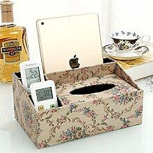 ENXING PU-Leder Kosmetiktuch Box/Tissue-Box