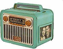 ENXING Retro Kosmetiktücherbox Rechteck Radio