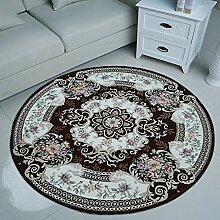 Enzhe Runder Teppich, Rutschfest, leicht zu