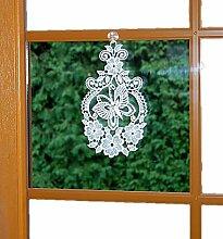 enzückendes Fensterbild Plauener Spitze ® 15x26