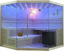 EO-SPA Sauna B1101 XL Pappelholz 250x250 12kW EOS