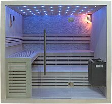EO-SPA Sauna B1102B Pappelholz 200x170 9kW EOS BiO-Therma
