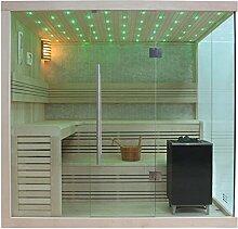 EO-SPA Sauna B1105C helle Pinie/180x180/9kW EOS