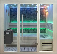 EO-SPA Sauna B1216B Pappelholz/180x120/9kW EOS