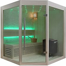 EO-SPA Sauna B1219A helle Pinie/160x160/9kW EOS BiO-Therma
