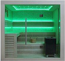 EO-SPA Sauna B1247A Pappelholz 220x180 9kW EOS BiO-Max