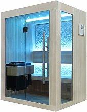EO-SPA Sauna B1252B Pappelholz/120x110/3kW EOS