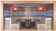 EO-SPA Sauna B1400A rote Zeder/400x300/12kW