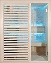 EO-SPA Sauna B1410A Pappelholz/180x105/3kW EOS BiO-Mini