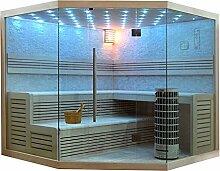 EO-SPA Sauna E1101B Pappelholz/200x200/9kW Cilindro