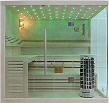 EO-SPA Sauna E1105A helle Pinie/220x180/9kW