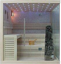 EO-SPA Sauna E1105B helle Pinie/200x180/9kW Kivi
