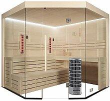 EO-SPA Sauna E1201B-IR Pappelholz/205x205/9kW