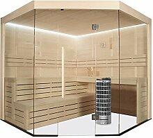 EO-SPA Sauna E1201B Pappelholz/205x205/9kW Cilindro