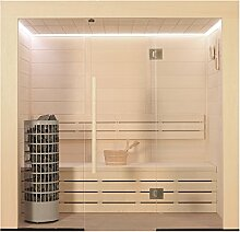 EO-SPA Sauna E1203A Pappelholz/202x133/9kW Cilindro
