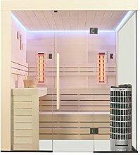 EO-SPA Sauna E1205B-IR Pappelholz/207x198/9kW
