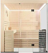 EO-SPA Sauna E1205B Pappelholz/207x198/9kW Cilindro