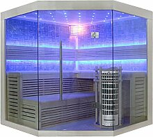 EO-SPA Sauna E1211C helle Pinie/180x180/9kW Cilindro