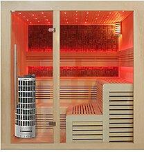 EO-SPA Sauna E1213C helle Pinie/180x180/9kW